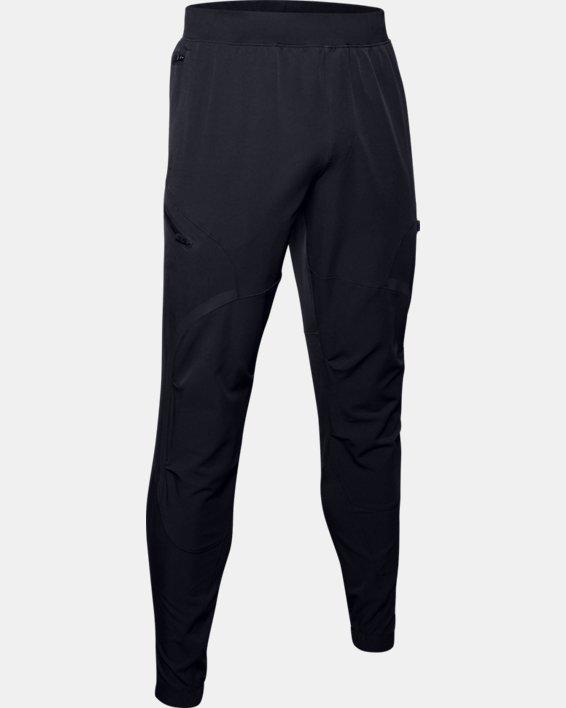Pantalon cargo UA Flex Woven pour homme, Black, pdpMainDesktop image number 4