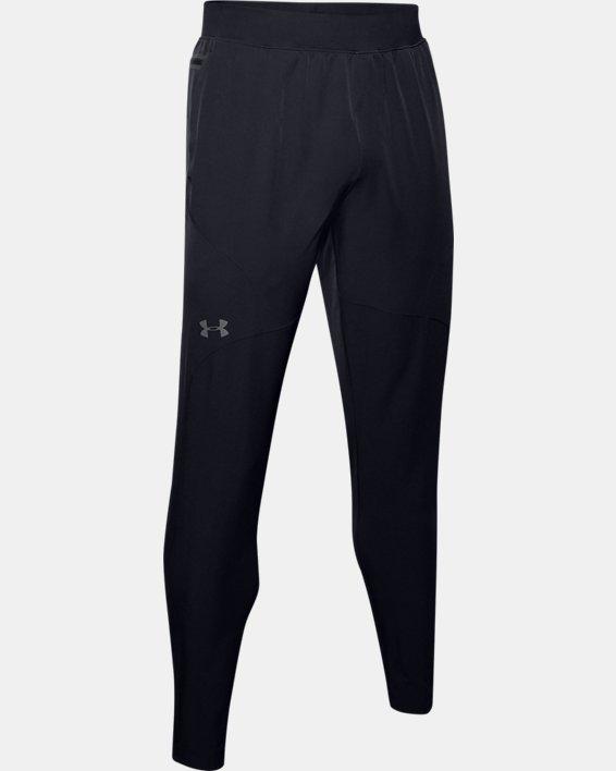 Men's UA Flex Woven Tapered Pants, Black, pdpMainDesktop image number 3