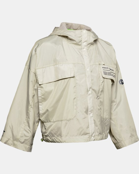 Women's UA Always On Recover Anorak Jacket, White, pdpMainDesktop image number 3