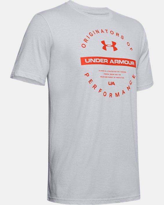Men's UA Circle Originators Short Sleeve, Gray, pdpMainDesktop image number 3