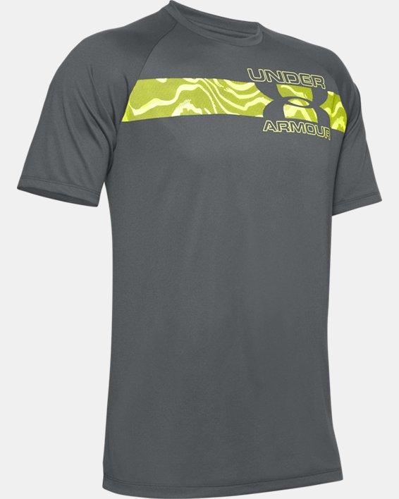 Men's UA Tech™ 2.0 Graphic Short Sleeve, Gray, pdpMainDesktop image number 4