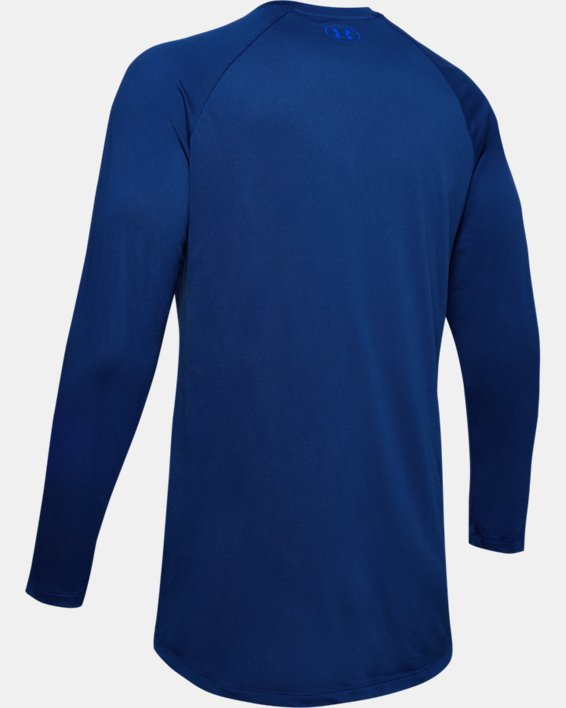 Men's UA Tech™ 2.0 Graphic Long Sleeve, Blue, pdpMainDesktop image number 5