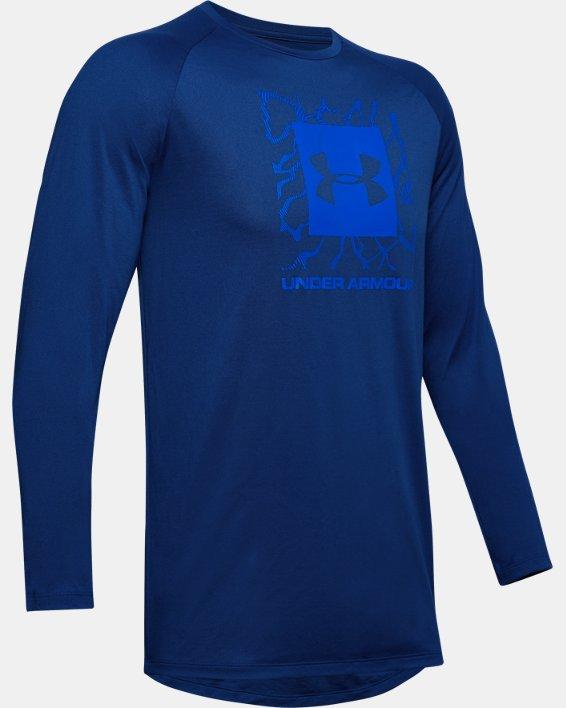 Men's UA Tech™ 2.0 Graphic Long Sleeve, Blue, pdpMainDesktop image number 4