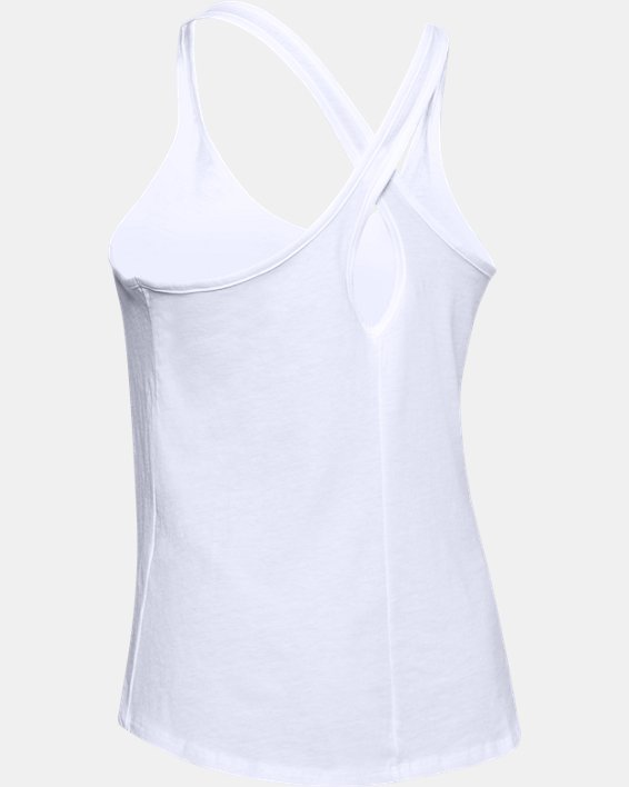 Women's UA Graphic Tank, White, pdpMainDesktop image number 5