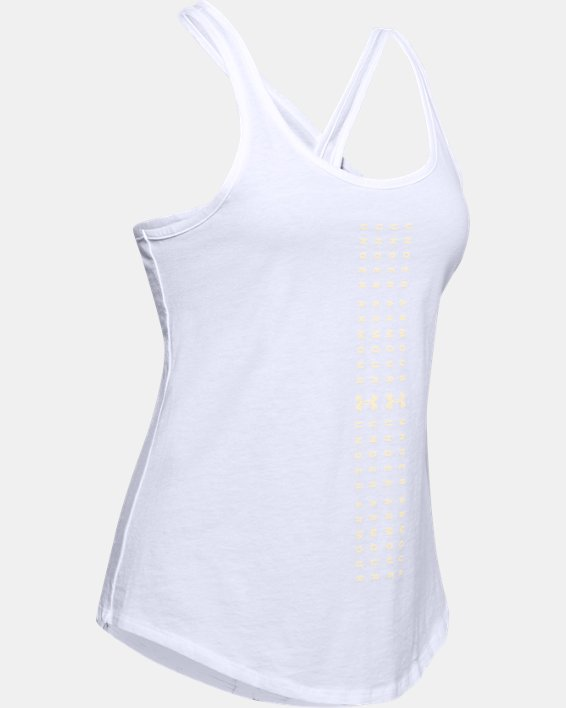 Women's UA Graphic Tank, White, pdpMainDesktop image number 4