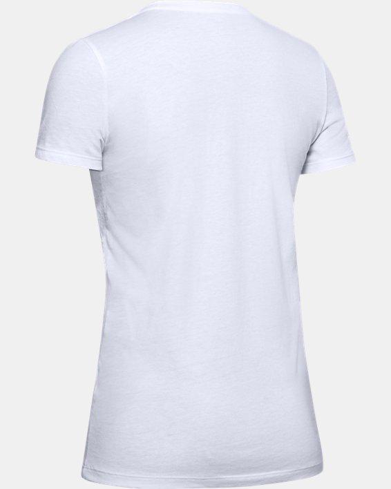 Women's UA Graphic Short Sleeve, White, pdpMainDesktop image number 5