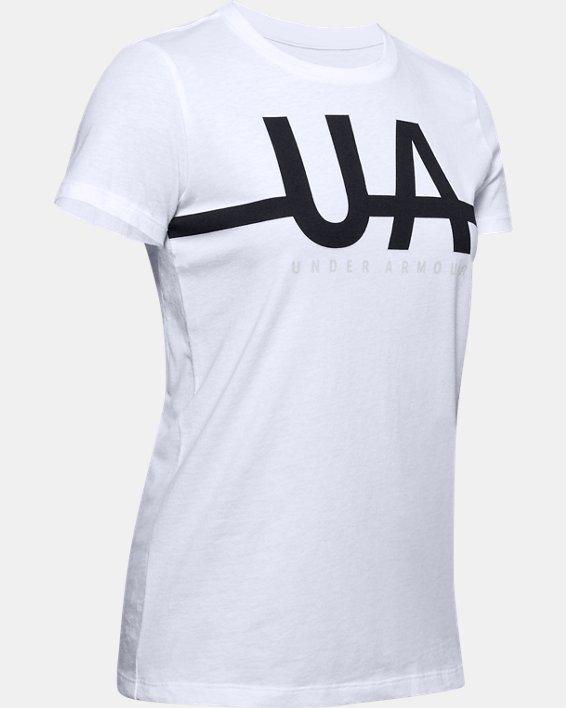 Women's UA Graphic Short Sleeve, White, pdpMainDesktop image number 4