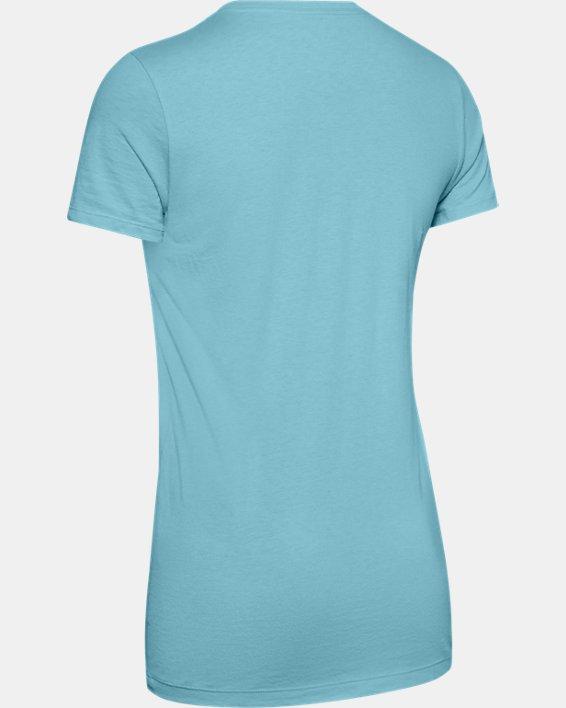 Women's UA Graphic Short Sleeve, Blue, pdpMainDesktop image number 5