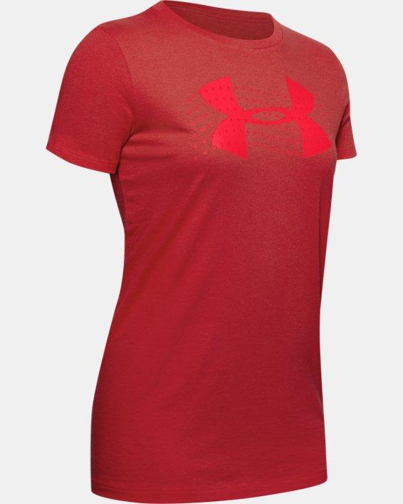 Women's UA Graphic Short Sleeve, Red, pdpMainDesktop image number 4