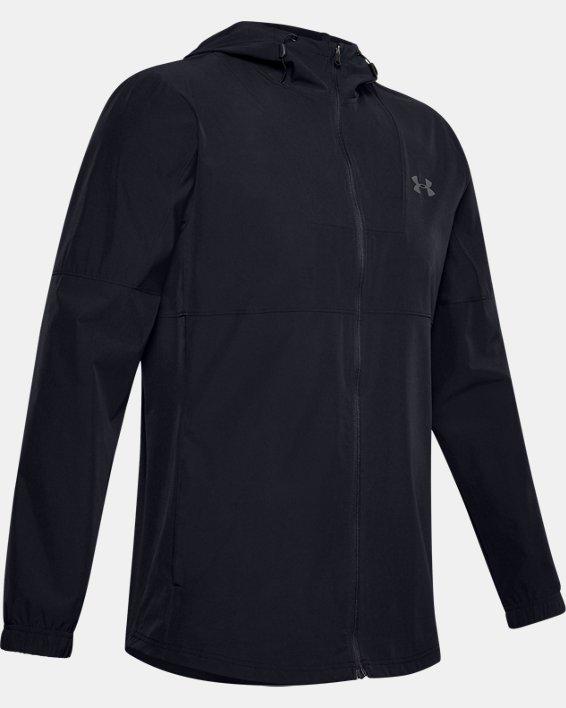 Men's UA Training Woven Jacket, Black, pdpMainDesktop image number 4