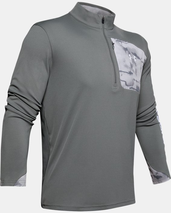Men's UA Iso-Chill Shore Break ½ Zip, Gray, pdpMainDesktop image number 3
