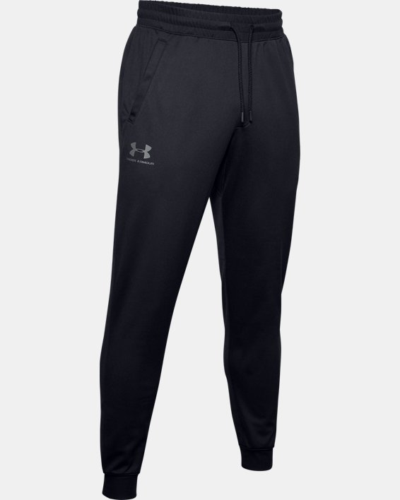 Men's UA Sportstyle Joggers, Black, pdpMainDesktop image number 4