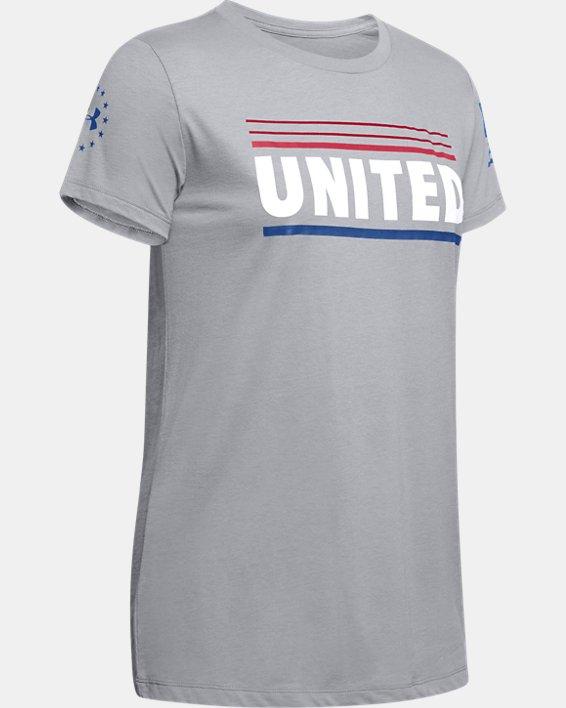 Women's UA Freedom United T-Shirt, Gray, pdpMainDesktop image number 4