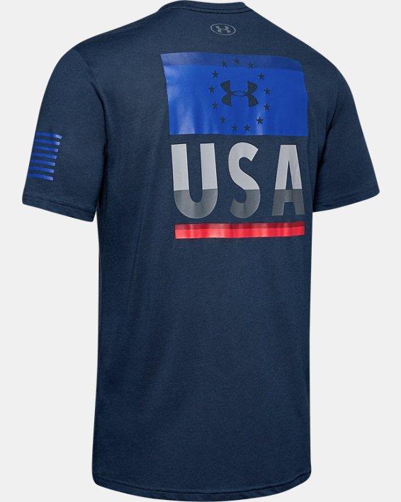 Men's UA Freedom Fierce Competitor T-Shirt, Navy, pdpMainDesktop image number 5