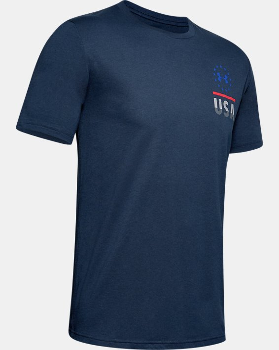 Men's UA Freedom Fierce Competitor T-Shirt, Navy, pdpMainDesktop image number 4