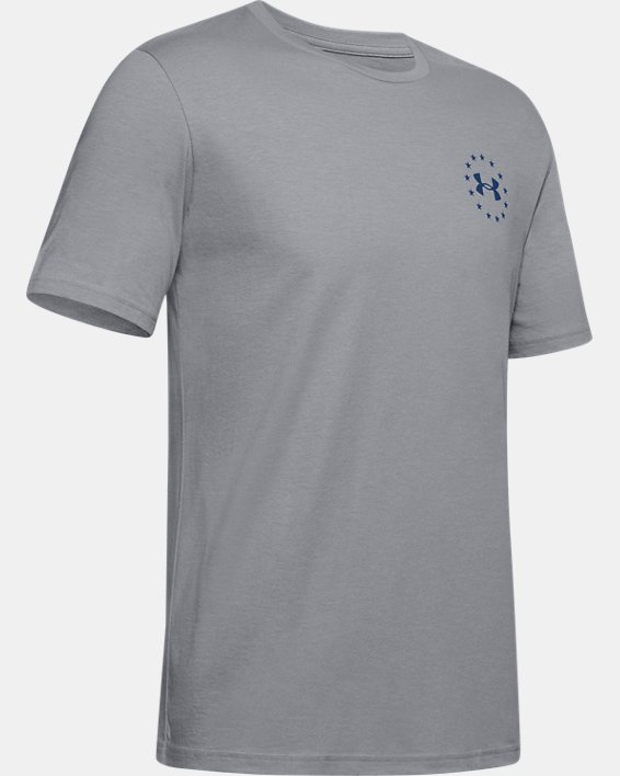 Men's UA Freedom Triumphant Victory T-Shirt, Gray, pdpMainDesktop image number 4