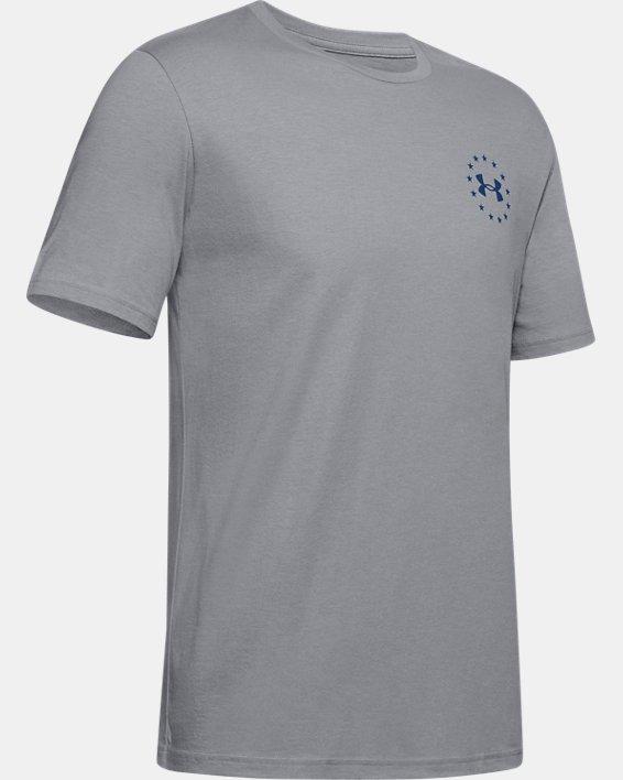 Men's UA Freedom Triumphant Victory T-Shirt, Gray, pdpMainDesktop image number 4