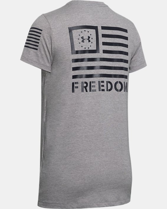 Women's UA Freedom Banner T-Shirt, Gray, pdpMainDesktop image number 5