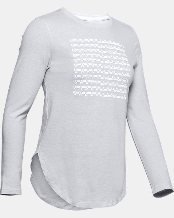 Women's UA Graphic Long Sleeve, Gray, pdpMainDesktop image number 4