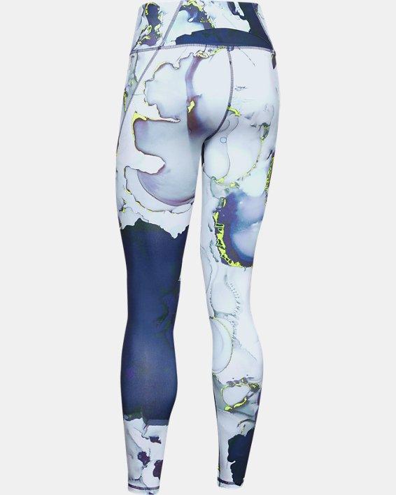 Women's UA Reflect Hi-Rise Printed Leggings, Blue, pdpMainDesktop image number 4