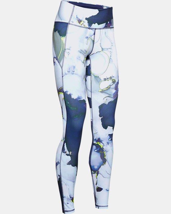 Women's UA Reflect Hi-Rise Printed Leggings, Blue, pdpMainDesktop image number 3
