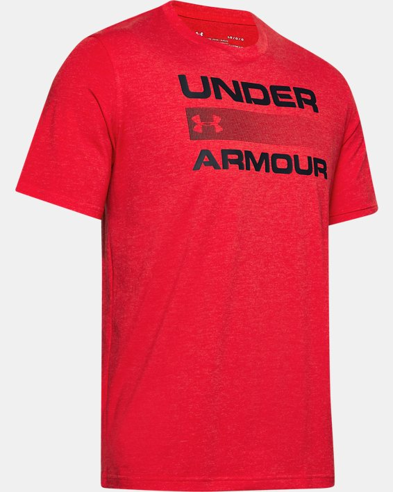Men's UA Team Issue Graphic T-Shirt, Red, pdpMainDesktop image number 4