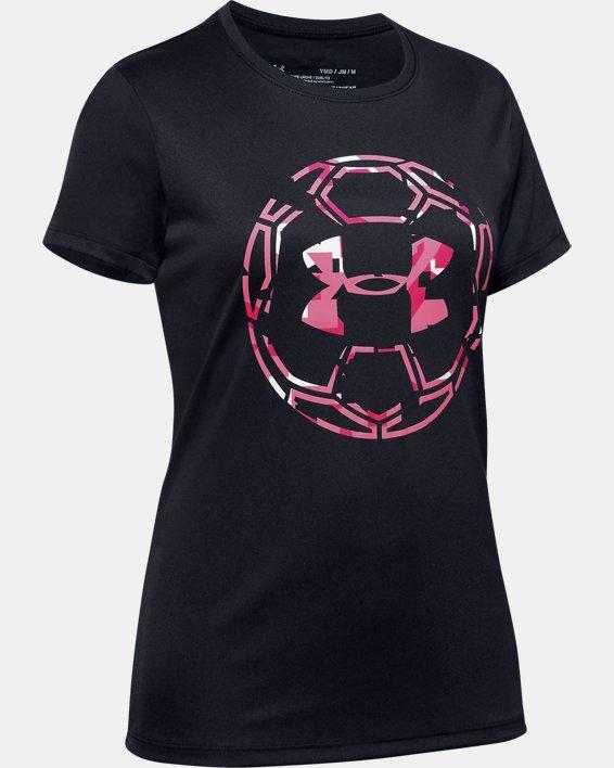 Girls' UA Soccer Graphic T-Shirt, Black, pdpMainDesktop image number 0