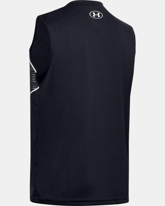 Boys' UA Velocity Graphic Sleeveless, Black, pdpMainDesktop image number 1