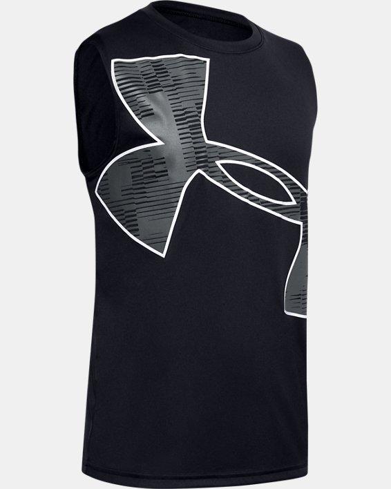 Boys' UA Velocity Graphic Sleeveless, Black, pdpMainDesktop image number 0