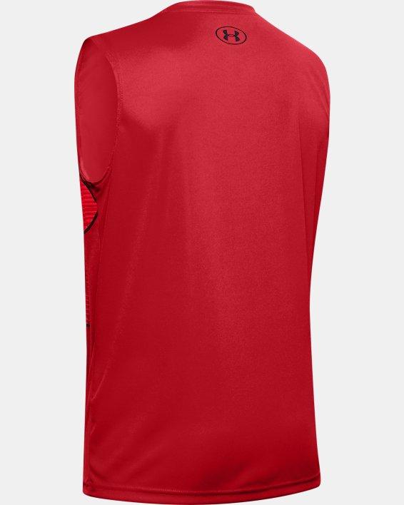 Boys' UA Velocity Graphic Sleeveless, Red, pdpMainDesktop image number 1