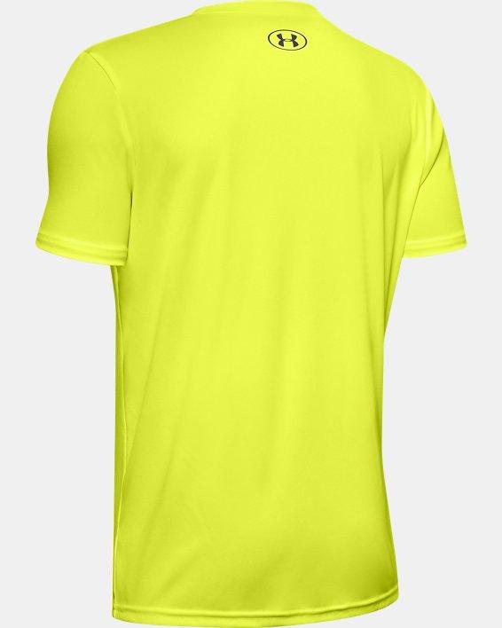 Boys' UA Velocity Big Logo Short Sleeve, Yellow, pdpMainDesktop image number 1