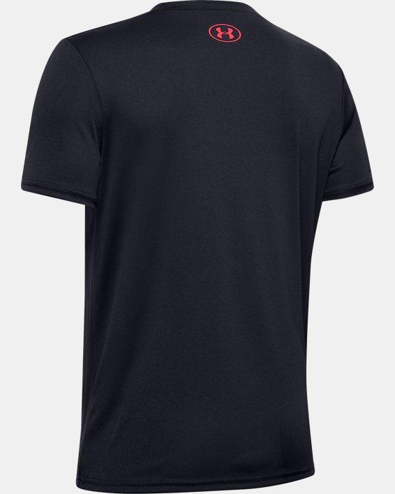 Boys' UA Velocity Crossfade Short Sleeve, Black, pdpMainDesktop image number 1