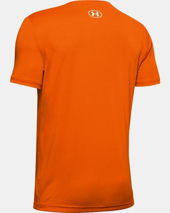 Boys' UA Velocity Crossfade Short Sleeve, Orange, pdpMainDesktop image number 1