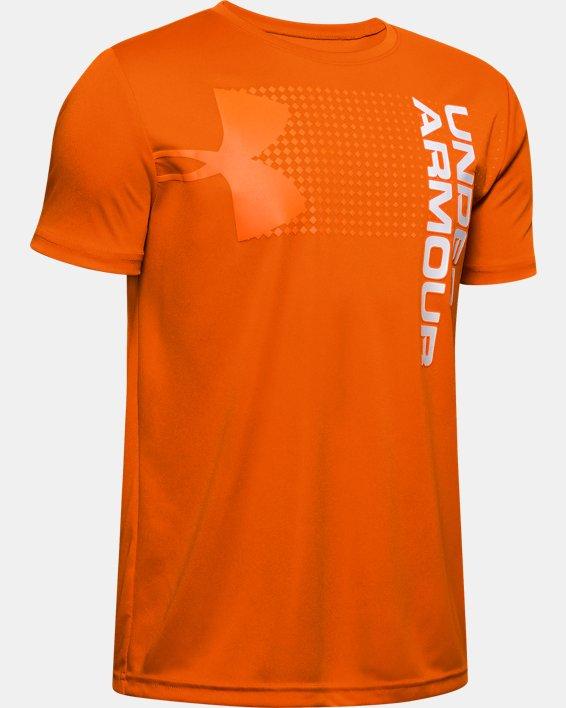 Boys' UA Velocity Crossfade Short Sleeve, Orange, pdpMainDesktop image number 0