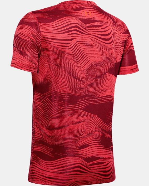 Boys' UA Velocity Big Logo Jacquard Short Sleeve, Red, pdpMainDesktop image number 1