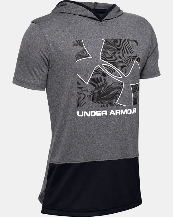 Boys' UA Velocity Short Sleeve Hoodie, Misc/Assorted, pdpMainDesktop image number 0