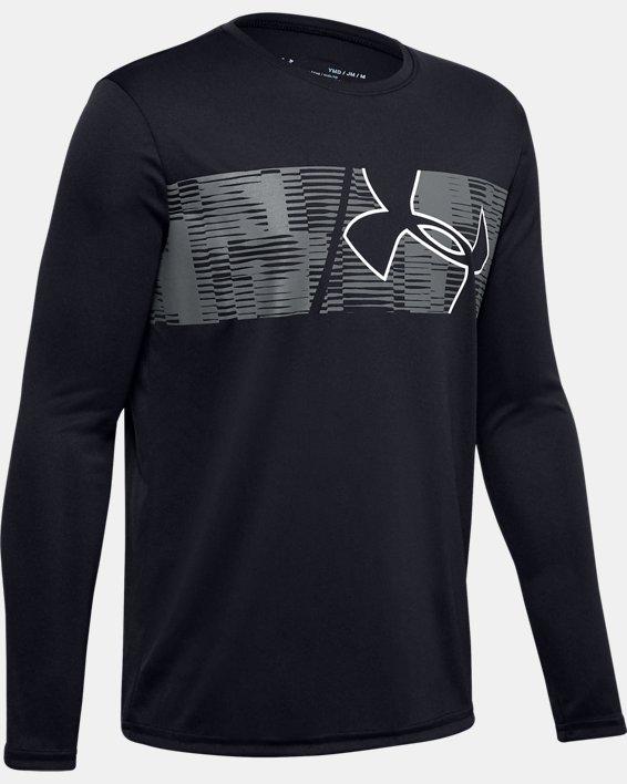 Boys' UA Velocity Graphic Long Sleeve, Black, pdpMainDesktop image number 0