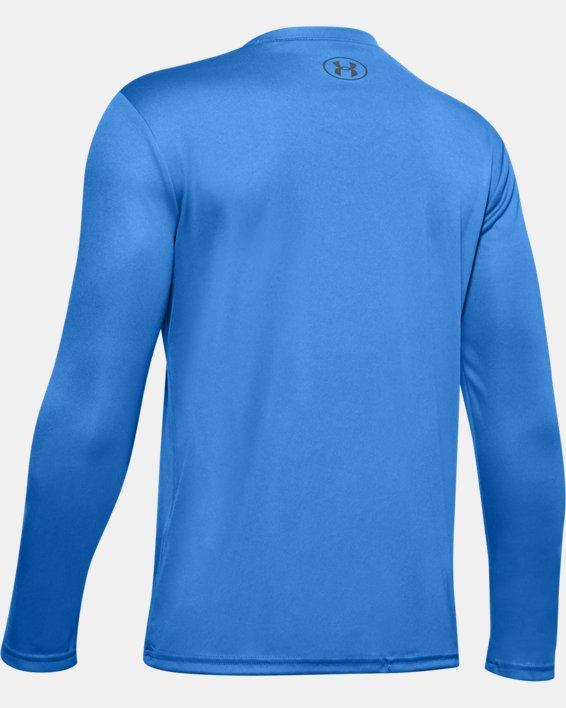 Boys' UA Velocity Graphic Long Sleeve, Blue, pdpMainDesktop image number 1