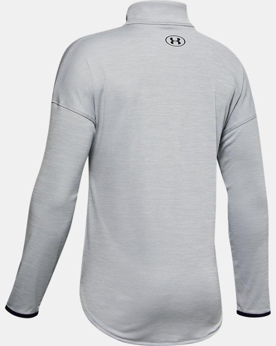Boys' UA Velocity ½ Zip, Gray, pdpMainDesktop image number 1