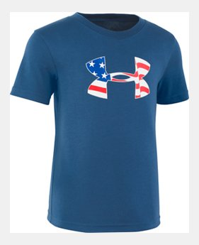 055906a75f8a8b New Arrival Boys  Toddler UA Flag Logo Short Sleeve FREE U.S. SHIPPING 2  Colors Available. 2 Colors Available. PETROL BLUE  Mod Gray