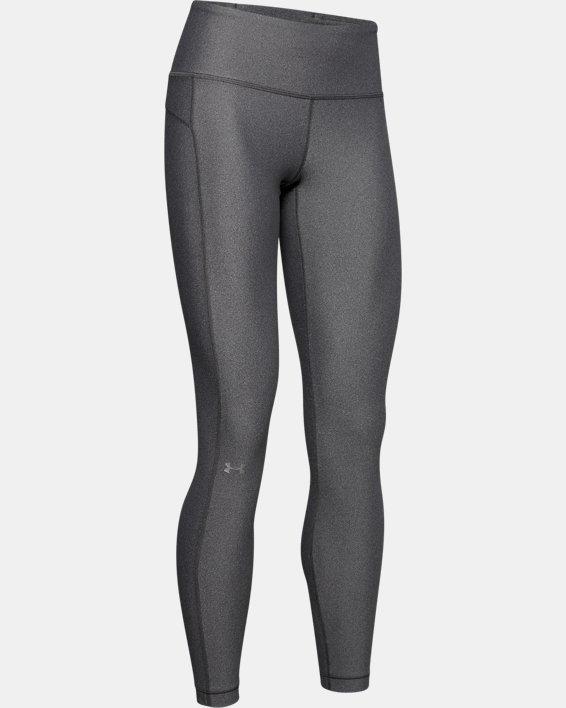 Women's HeatGear® Armour Hi-Rise Leggings, Gray, pdpMainDesktop image number 4