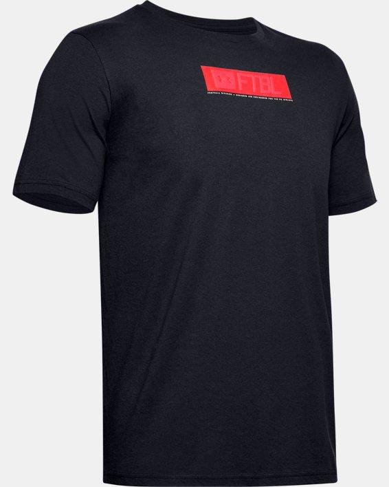 Men's UA FTBL Branded Stack T-Shirt, Black, pdpMainDesktop image number 3