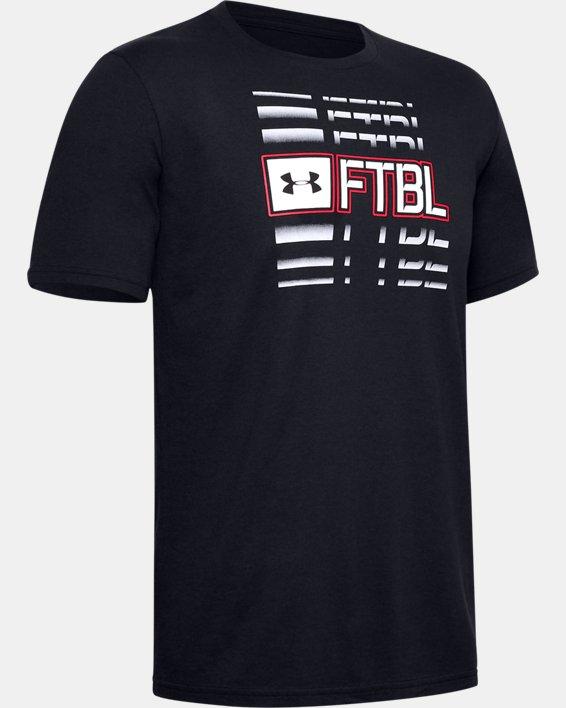 Men's UA FTBL Branded Speed T-Shirt, Black, pdpMainDesktop image number 4
