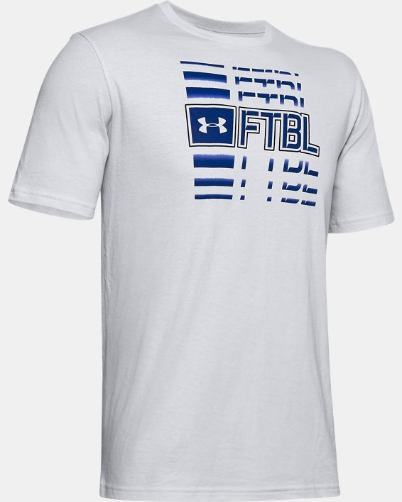 Men's UA FTBL Branded Speed T-Shirt, Gray, pdpMainDesktop image number 4