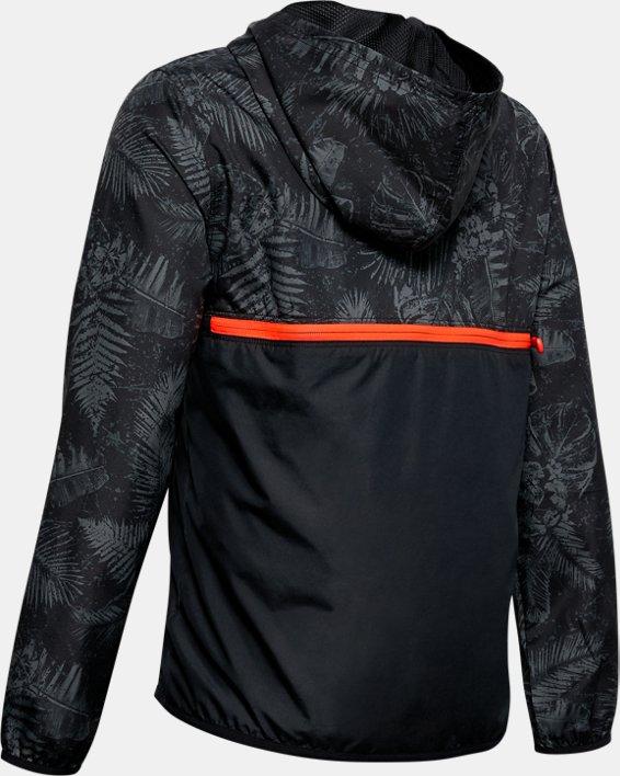 Boys' Project Rock Sackpack Jacket, Black, pdpMainDesktop image number 1