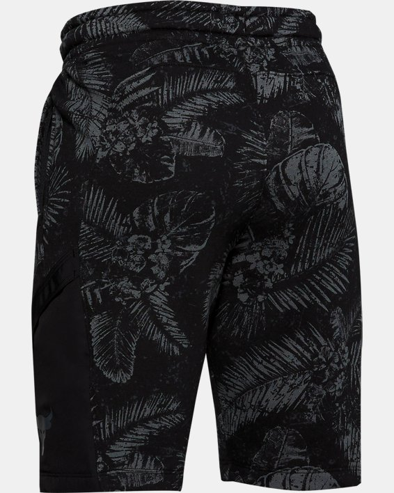 Boys' Project Rock Terry Shorts, Black, pdpMainDesktop image number 1