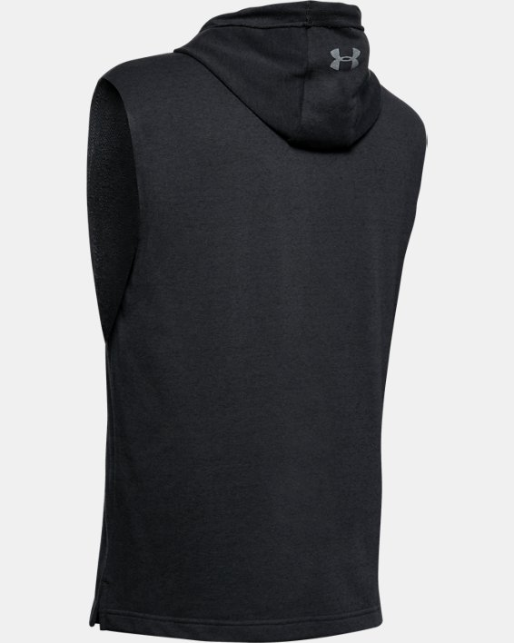 Men's Project Rock Terry Sleeveless Hoodie, Black, pdpMainDesktop image number 4