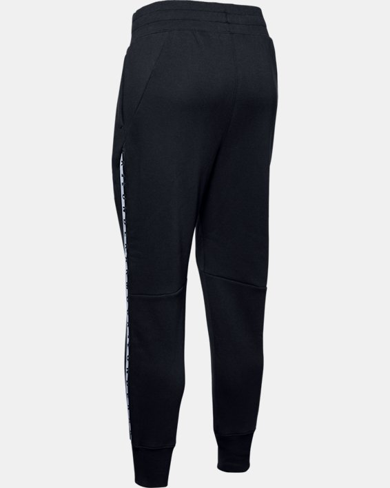 Women's UA Fleece Taped Wordmark Pants, Black, pdpMainDesktop image number 5