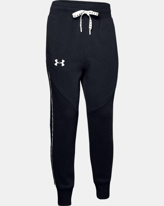 Women's UA Fleece Taped Wordmark Pants, Black, pdpMainDesktop image number 4