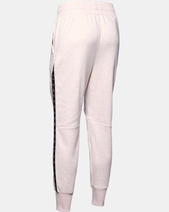 Women's UA Fleece Taped Wordmark Pants, Pink, pdpMainDesktop image number 5